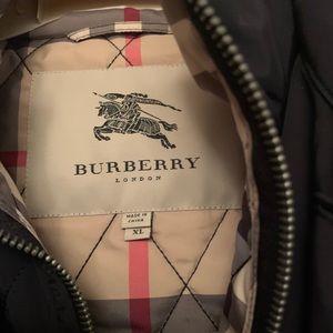 BURBERRY Men's black duo coat XL
